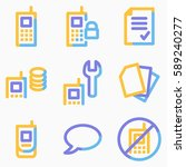 mobile phone icons set 1 ... | Shutterstock .eps vector #589240277