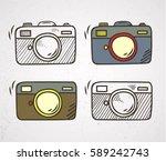 doodle camera | Shutterstock .eps vector #589242743