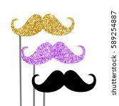 photo booth props vector... | Shutterstock .eps vector #589254887