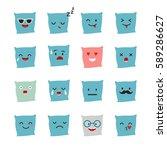 pillow emoji vector... | Shutterstock .eps vector #589286627
