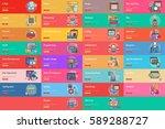 web and development conceptual ... | Shutterstock .eps vector #589288727