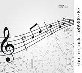 vector music  background ... | Shutterstock .eps vector #589300787