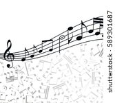 music  background  melody ... | Shutterstock . vector #589301687
