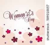 international women's day on 8... | Shutterstock .eps vector #589310057