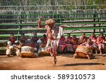 Small photo of SWAZILAND - JULY 15: Sangoma's dance on 15 July 2000 at Swaziland. Sangoma is the shaman, healer and magicician in Swazi and Zulu culture.
