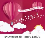 lovely young joyful couple in... | Shutterstock .eps vector #589313573