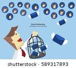 illustration vector of email... | Shutterstock .eps vector #589317893