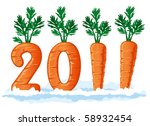 2011 figures from the carrots ... | Shutterstock .eps vector #58932454