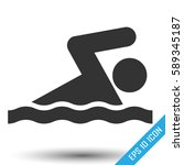 swimming man icon. swim sign... | Shutterstock .eps vector #589345187
