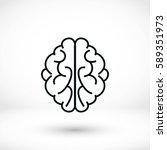 brain icon  vector eps 10... | Shutterstock .eps vector #589351973
