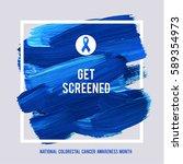 clorectal cancer awareness... | Shutterstock .eps vector #589354973