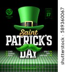 saint patrick's day party... | Shutterstock .eps vector #589360067