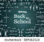 vector physical back to school... | Shutterstock .eps vector #589362113
