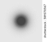 black abstract vector circle... | Shutterstock .eps vector #589370567