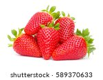 strawberries isolated over... | Shutterstock . vector #589370633