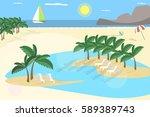summer holidays  background in... | Shutterstock .eps vector #589389743