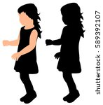 silhouette of a child | Shutterstock .eps vector #589392107