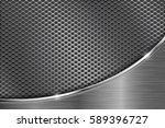 metal perforated background... | Shutterstock .eps vector #589396727