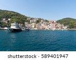 cityscape of istanbul suburbia...   Shutterstock . vector #589401947
