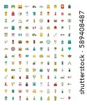 set of vector icons. flat... | Shutterstock .eps vector #589408487