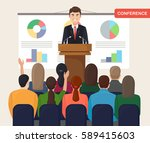 business workshop  training ... | Shutterstock .eps vector #589415603