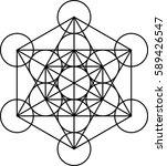meta tron cube | Shutterstock .eps vector #589426547