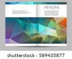 business brochure design layout ... | Shutterstock .eps vector #589435877