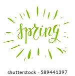 spring green lettering | Shutterstock .eps vector #589441397