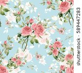 seamless watercolor pattern...   Shutterstock . vector #589447283