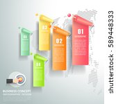 abstract 3d infographic 5... | Shutterstock .eps vector #589448333