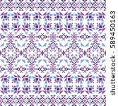 ethnic seamless pattern with... | Shutterstock .eps vector #589450163