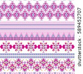 ethnic seamless pattern with... | Shutterstock .eps vector #589452707