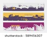 abstract modern grunge banner...   Shutterstock .eps vector #589456307