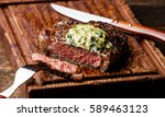 grilled medium rare steak... | Shutterstock . vector #589463123