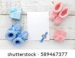set of baby girl and boy... | Shutterstock . vector #589467377
