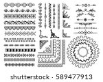 set of border  brush  frame ... | Shutterstock . vector #589477913
