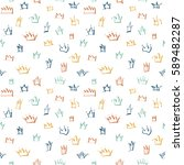 vector pattern with princess... | Shutterstock .eps vector #589482287