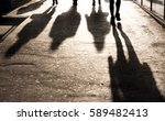 blurry shadows of people... | Shutterstock . vector #589482413