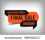 final sale banner  orange... | Shutterstock .eps vector #589504217