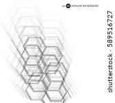 hexagonal geometric background. ... | Shutterstock .eps vector #589516727