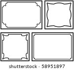decorative frames isolated on... | Shutterstock . vector #58951897
