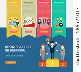 infographic business people | Shutterstock .eps vector #589521017