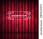 red abstract curtains and... | Shutterstock .eps vector #589524557