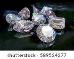 all shapes and cuts of diamonds ... | Shutterstock . vector #589534277