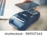 mobile payment  online shopping ... | Shutterstock . vector #589537163