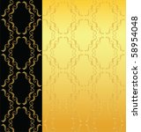 elegant black and gold... | Shutterstock . vector #58954048