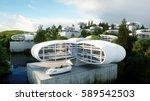 futuristic city  village. the... | Shutterstock . vector #589542503