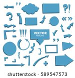 set of hand drawn arrows and... | Shutterstock .eps vector #589547573
