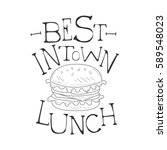 best in town cafe lunch menu... | Shutterstock .eps vector #589548023
