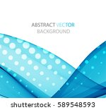 abstract blue wave   Shutterstock .eps vector #589548593